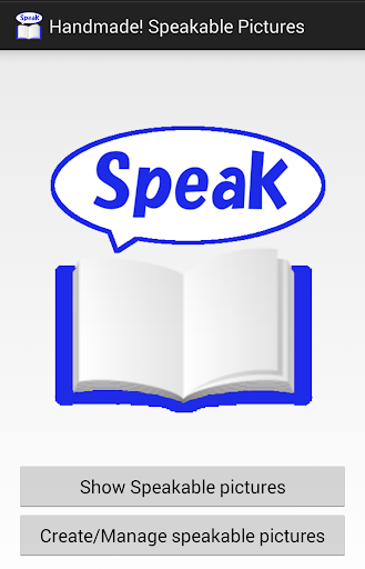Speakable picture for toddler