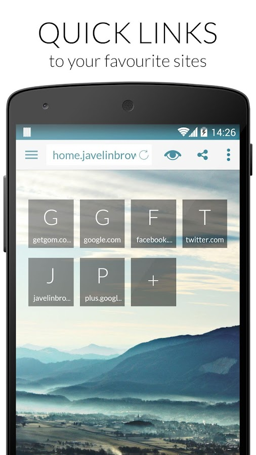 Javelin Browser- screenshot