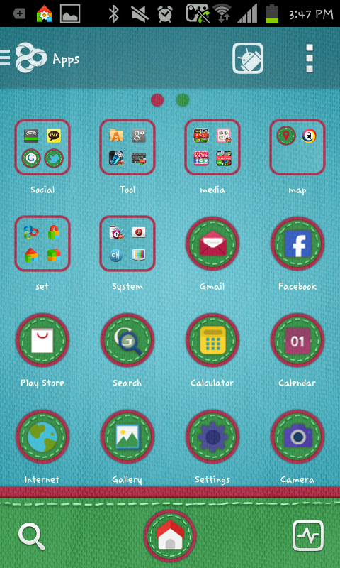 Winter paper go launcher theme - screenshot