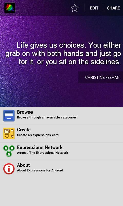 Expressions eCards - screenshot