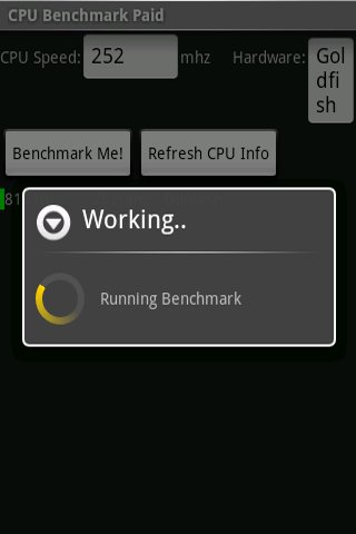 CPU Benchmark- screenshot