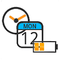 Battery Clock Calendar Full logo