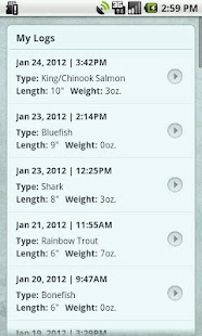 ScoutLook® Weather FishLog - screenshot thumbnail