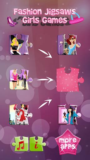 时尚 拼图 游戏的女孩 益智游戏