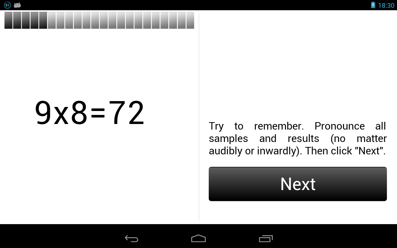 Multiplication Table.- screenshot
