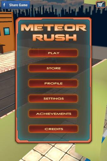 【免費街機App】Meteor Rush Action 3D Game-APP點子