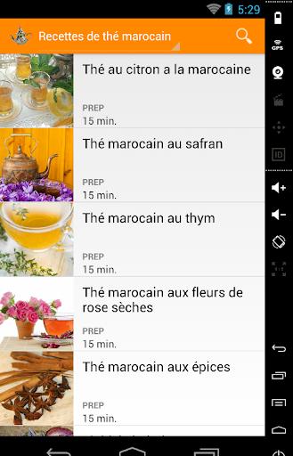 Thé marocain recettes