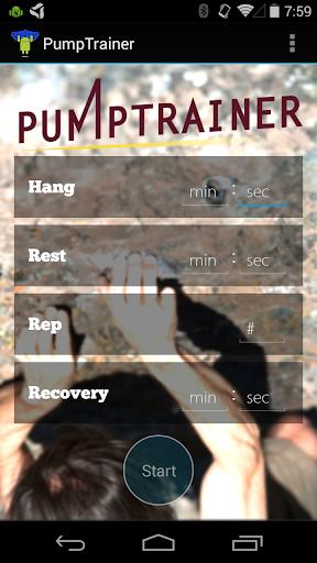 PumpTrainer: Hangboard Trainer