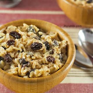 No Added Sugar Eggnog Rice Pudding with California Raisins