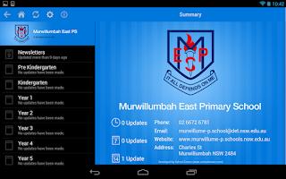 Screenshot of Murwillumbah East Primary