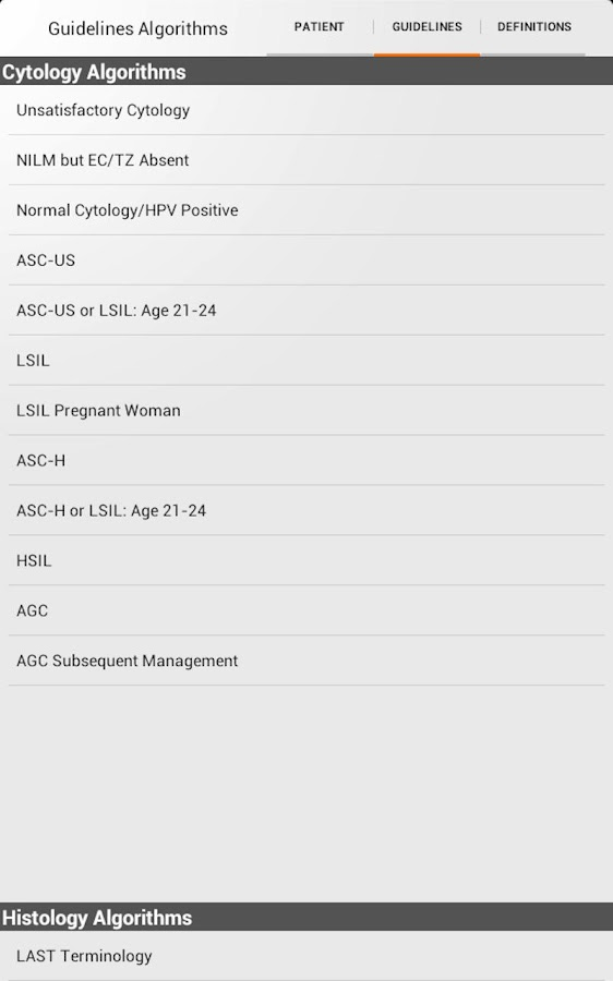 ASCCP Mobile- screenshot