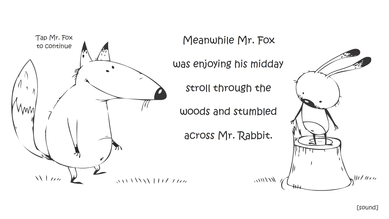 Mr Fox and Mr Rabbit - screenshot