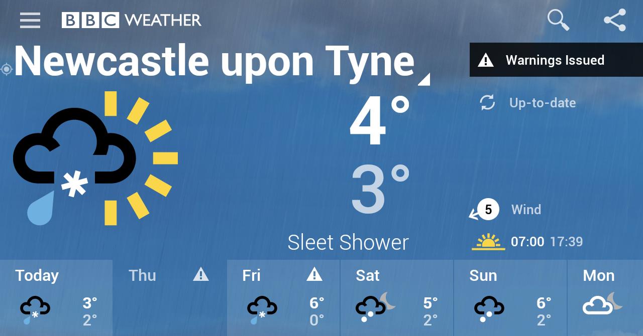 BBC Weather screenshot #3
