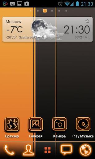 Orange Black GO Theme