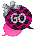 GO SMS - Leopard Bows Pink icon