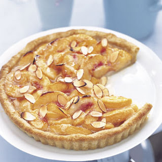 Honey-Glazed Peach Tart with Mascarpone Cream