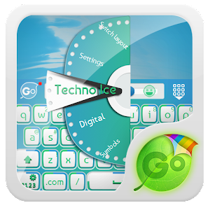 Freeapkdl Techno Ice GO Keyboard Theme for ZTE smartphones