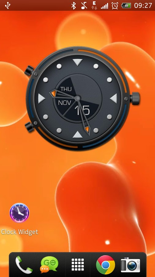 Beautiful Clock Widget Pro- screenshot