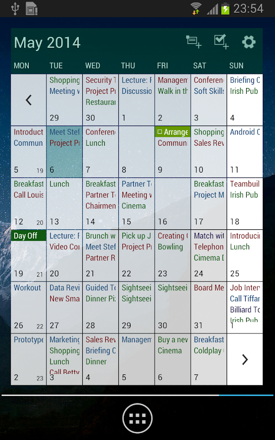 Business Calendar Pro - screenshot