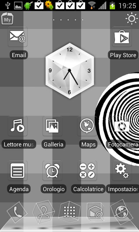 Black & White Rabbit Launcher - screenshot