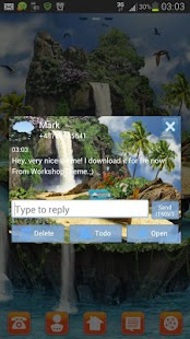 GO SMS Pro Theme tropical - screenshot thumbnail