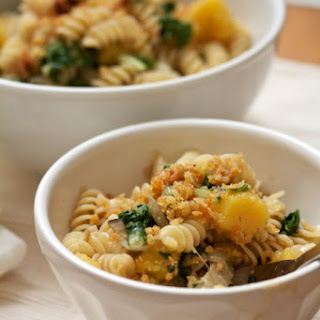 Fusilli with Squash, Chard, Walnuts, and Pangritata.