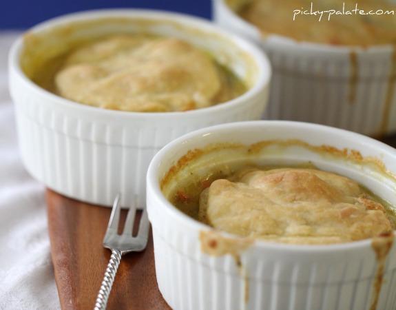 Cheesy Turkey Pot Pies Recipe