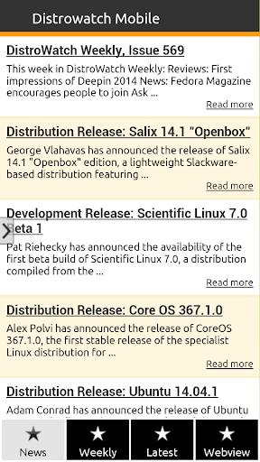 DistroWatch Mobile - Linux BSD