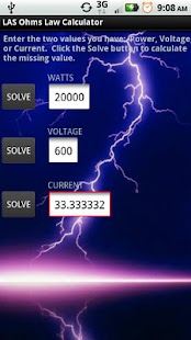 LAS Ohm's Law Calculator- screenshot thumbnail