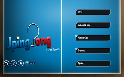 JPingPong Table Tennis Free Screenshot 1