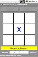 Screenshot of AI x0 Tic Tac Toe UNBEATABLE!!