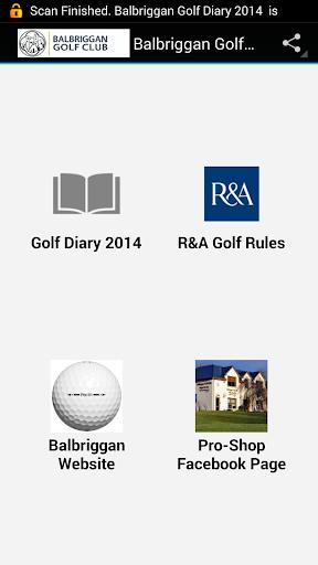 Balbriggan Golf Diary 2014