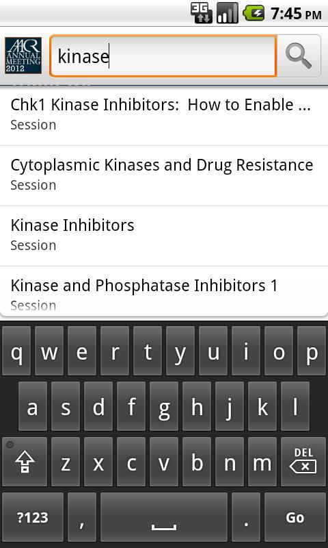 2012 AACR Annual Meeting App- screenshot