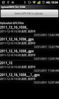 Screenshot of UploadGPX for OSM