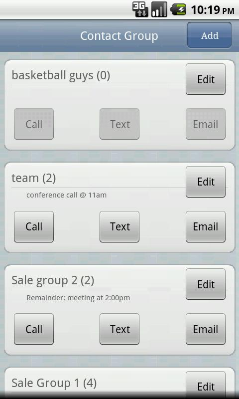 Contact Group - screenshot