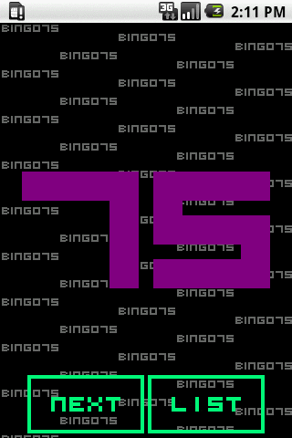 BINGO75 - screenshot
