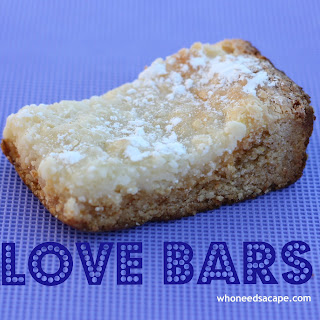 Love Bars aka Gooey Butter Bars.