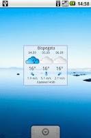 Screenshot of DB.no weather widget
