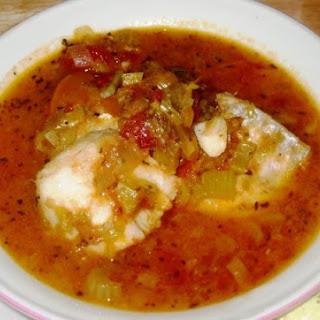 Mediterranean White Fish & Leek Stew.