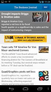 Milwaukee Business Journal- screenshot thumbnail