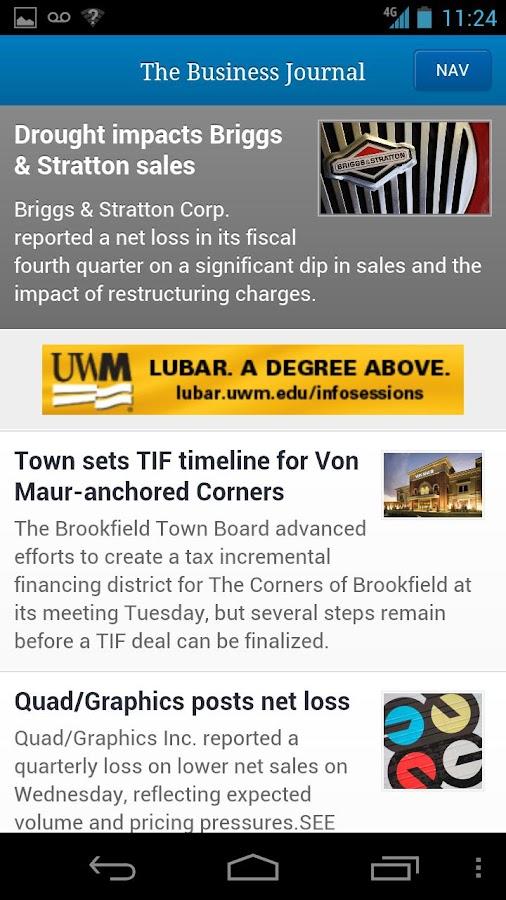 Milwaukee Business Journal- screenshot
