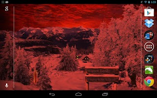 Screenshot of Winter Snow Live Wallpaper Pro