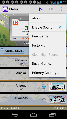 android Plates Family Travel Game Screenshot 5
