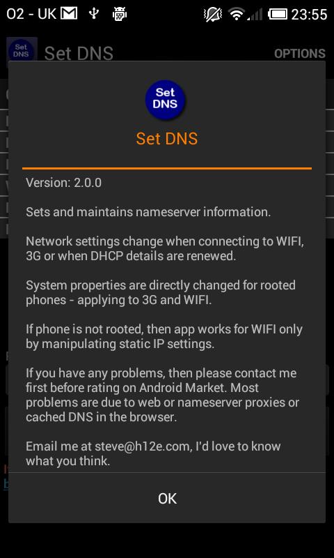 Set DNS- screenshot