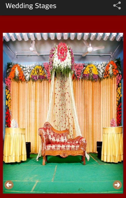 Wedding stage designs android apps on google play for Marriage decoration photos