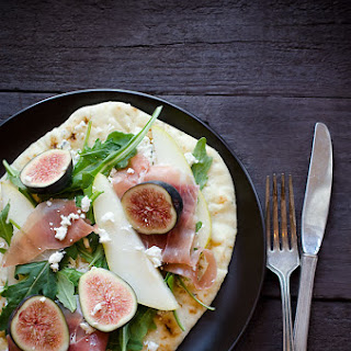 Fig, Pear and Prosciutto Tartine