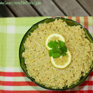 Orzo with Artichoke Lemon Pesto