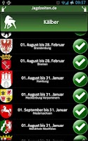 Screenshot of Jagdzeiten.de App