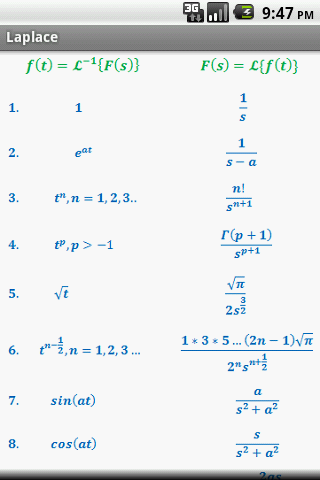 Calculus Quick Reference Free - screenshot
