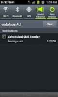 Screenshot of Scheduled SMS Sender